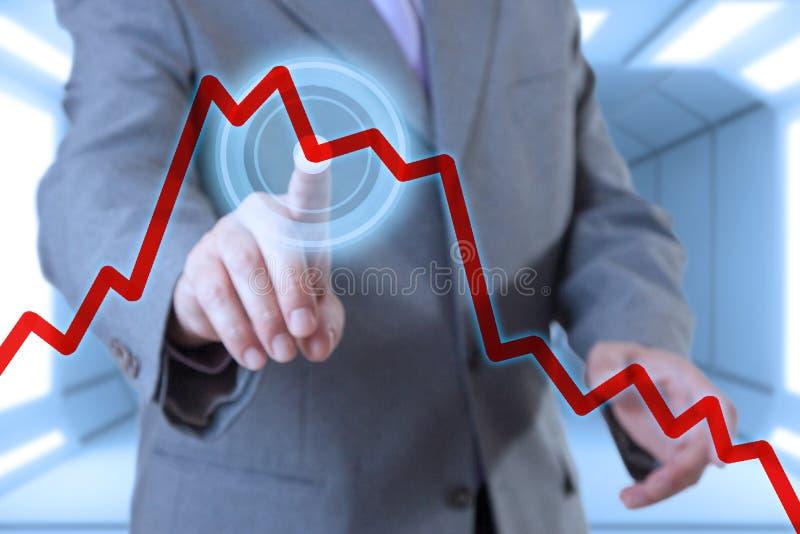Οθόνη αφής επιχειρηματιών στοκ εικόνες