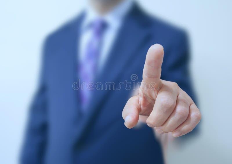 Οθόνη αφής επιχειρησιακών ατόμων στοκ εικόνες με δικαίωμα ελεύθερης χρήσης