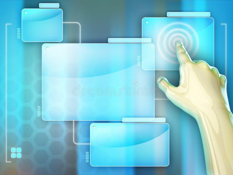 Οθόνη αφής απεικόνιση αποθεμάτων