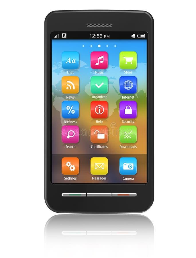 οθόνη επαφής smartphone απεικόνιση αποθεμάτων