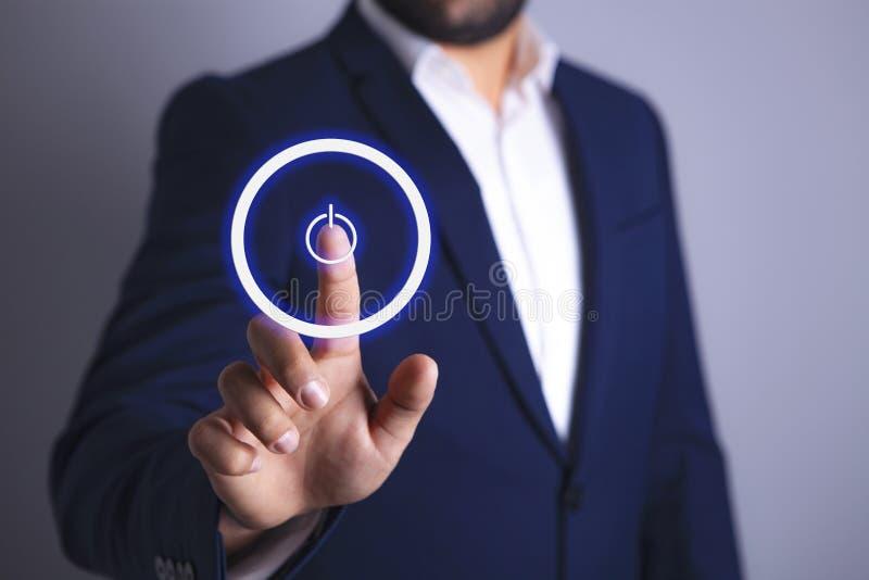 Οθόνη επιχειρηματιών και μακριά διανυσματική απεικόνιση