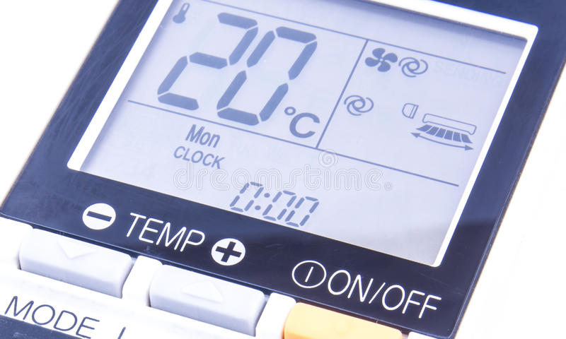 Οθόνη θερμοκρασίας στοκ εικόνα