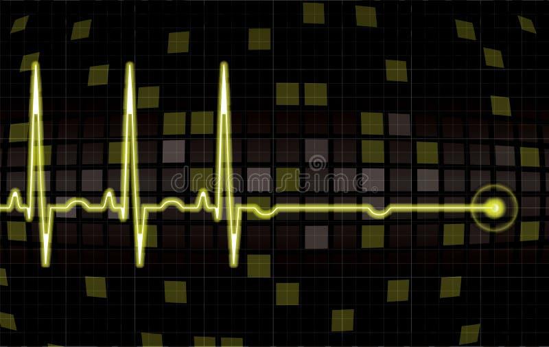 οθόνη μηνυτόρων καρδιών απεικόνιση αποθεμάτων
