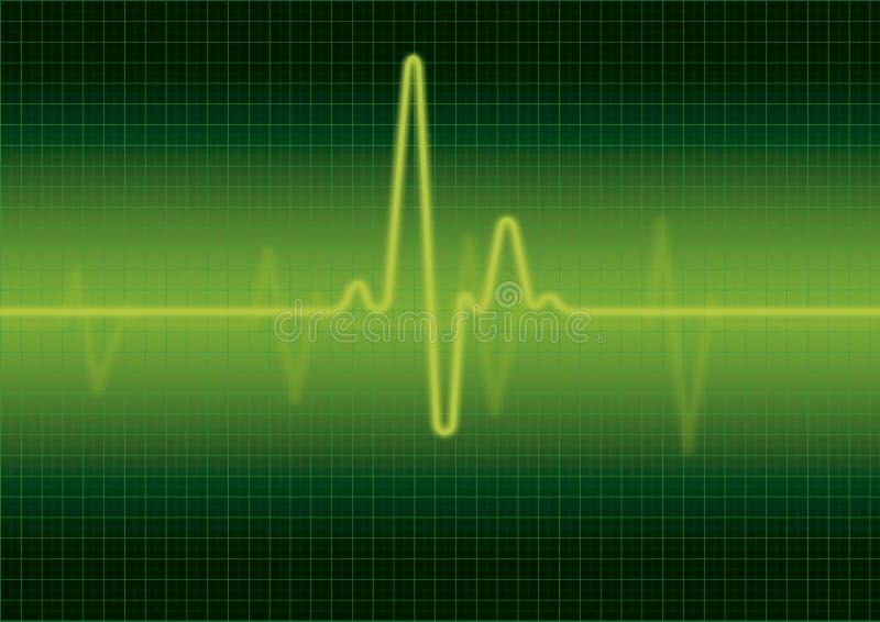 οθόνη μηνυτόρων καρδιών ελεύθερη απεικόνιση δικαιώματος