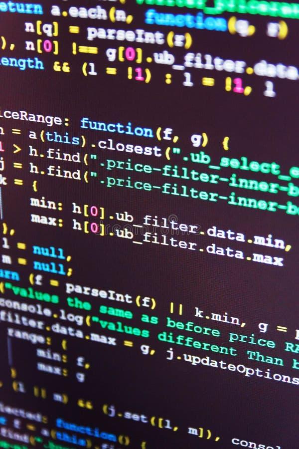 Οθόνη υπεύθυνων για την ανάπτυξη προγραμματιστών στοκ εικόνα