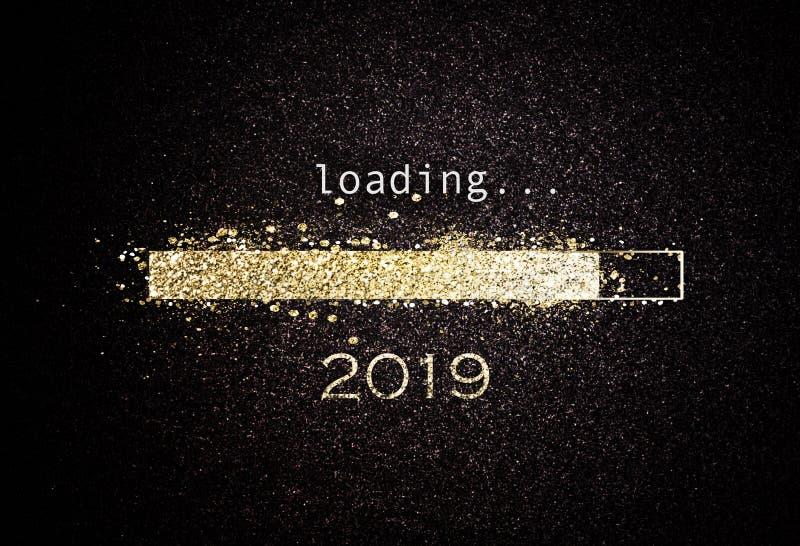 Οθόνη υπολογιστή με το φραγμό φόρτωσης για το 2019 διανυσματική απεικόνιση