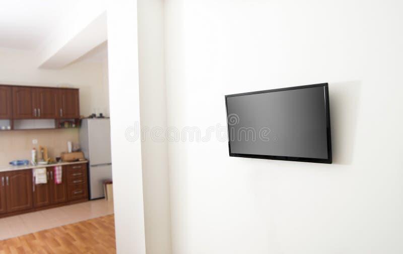 Οθόνη TV σε apartmnent στοκ εικόνες