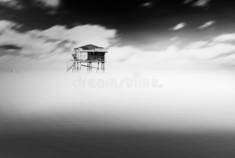 'Οικία' στη θάλασσα στοκ εικόνα