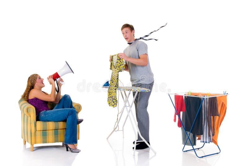 οικιακό σιδέρωμα στοκ φωτογραφίες με δικαίωμα ελεύθερης χρήσης
