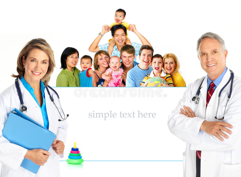 οικογένεια γιατρών στοκ εικόνες