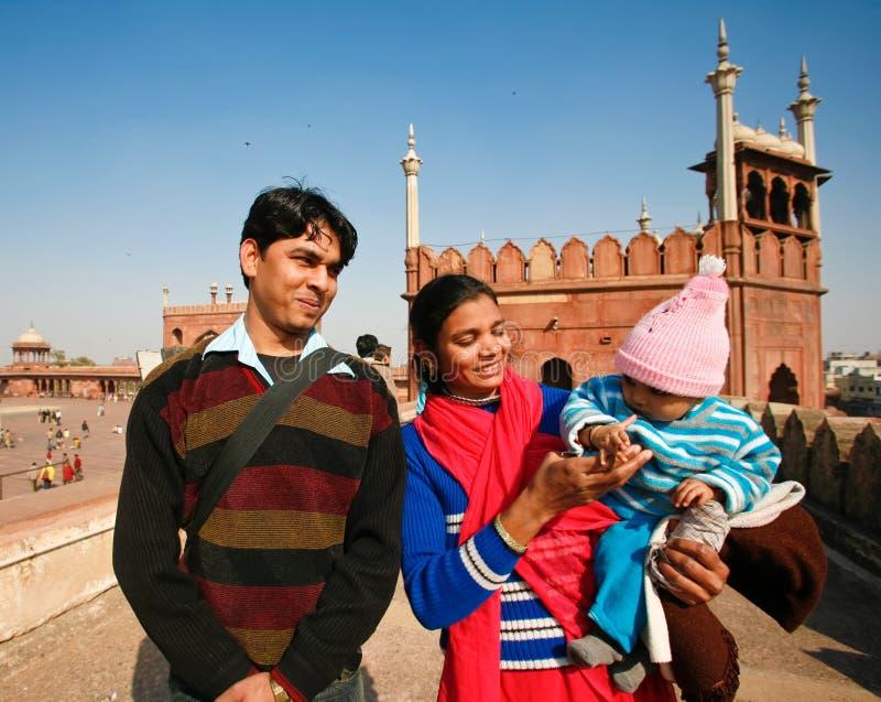 οικογένεια Ινδός στοκ φωτογραφία με δικαίωμα ελεύθερης χρήσης