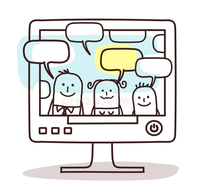 Οικογένεια και κοινωνικό δίκτυο διανυσματική απεικόνιση