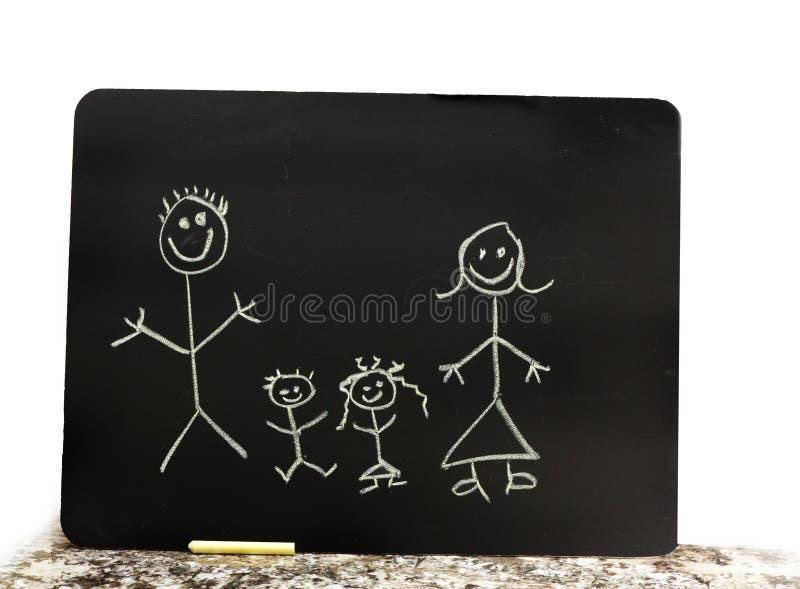 οικογένεια κιμωλίας στοκ εικόνα με δικαίωμα ελεύθερης χρήσης