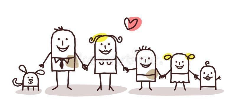Οικογένεια κινούμενων σχεδίων ελεύθερη απεικόνιση δικαιώματος