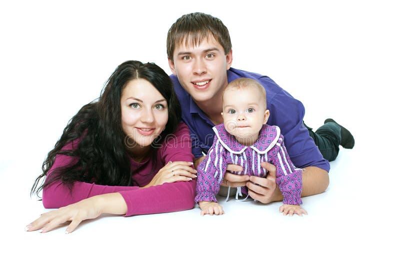 Οικογένεια με ένα μωρό στοκ εικόνες