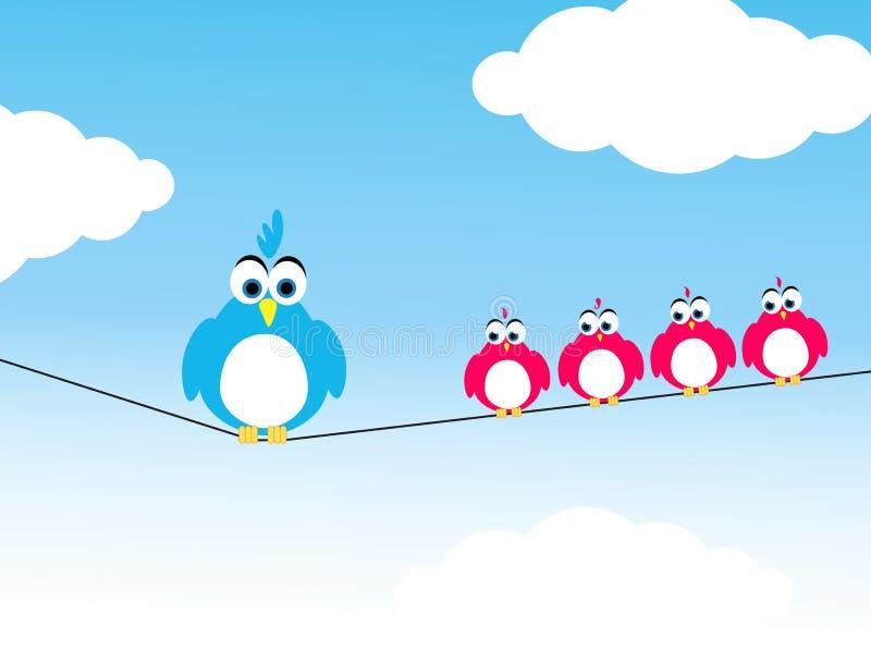 οικογένεια πουλιών ελεύθερη απεικόνιση δικαιώματος