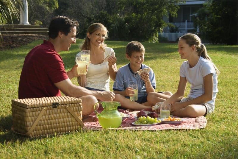 οικογένεια που έχει picnic πάρ& στοκ φωτογραφίες