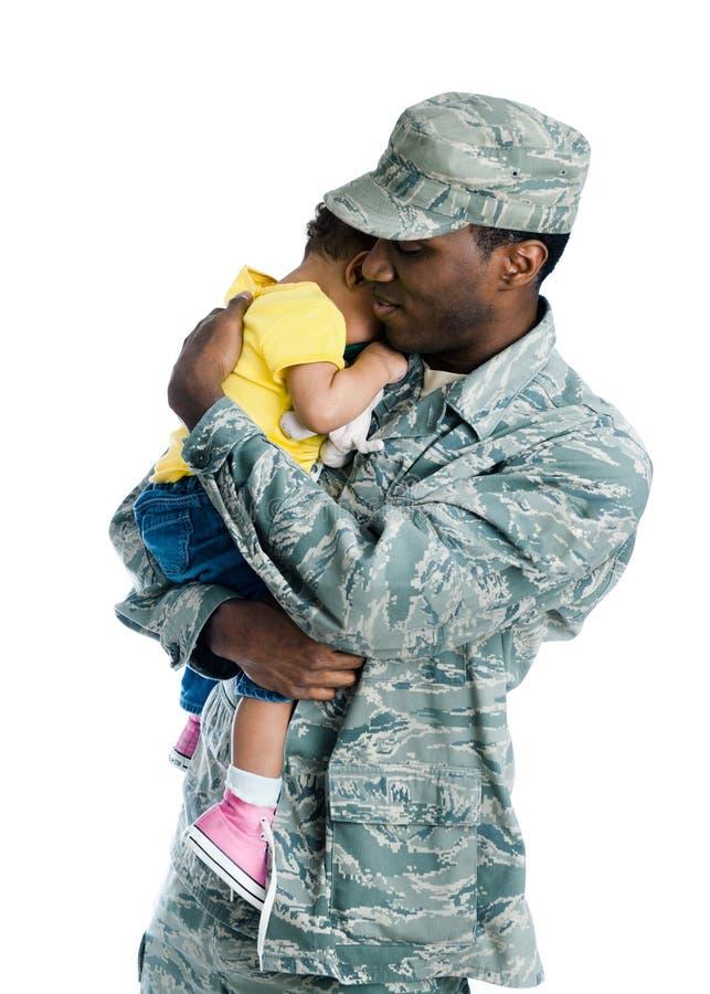 οικογένεια στρατιωτική στοκ φωτογραφία με δικαίωμα ελεύθερης χρήσης