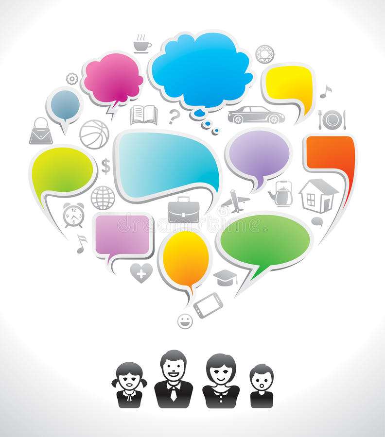 οικογένεια συνομιλίας ελεύθερη απεικόνιση δικαιώματος