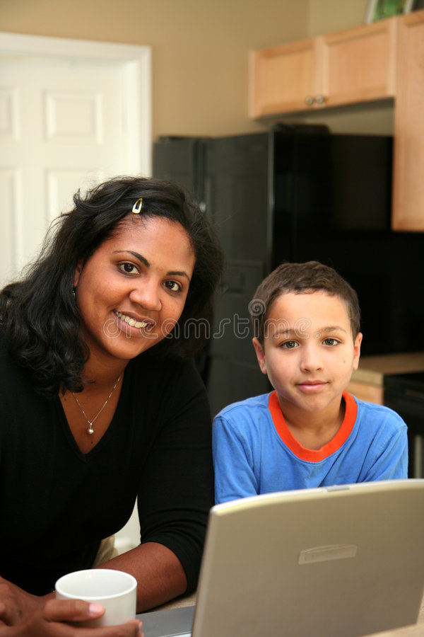 οικογένεια υπολογιστών Στοκ Φωτογραφία