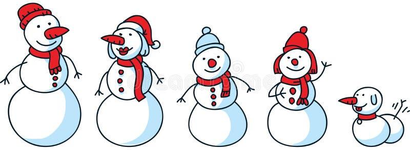 Οικογένεια χιονιού απεικόνιση αποθεμάτων