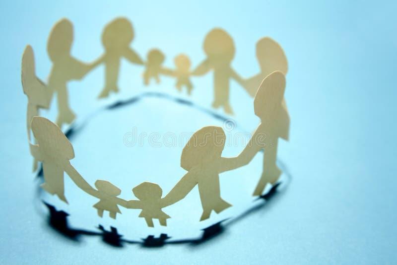 οικογένειες που ενώνον στοκ φωτογραφία