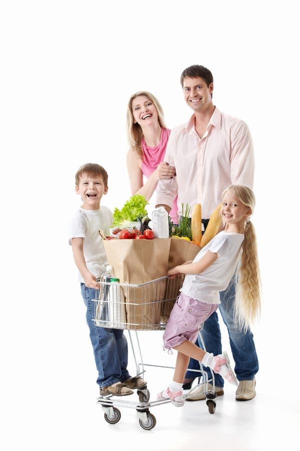 Οικογενειακές αγορές στοκ φωτογραφίες με δικαίωμα ελεύθερης χρήσης