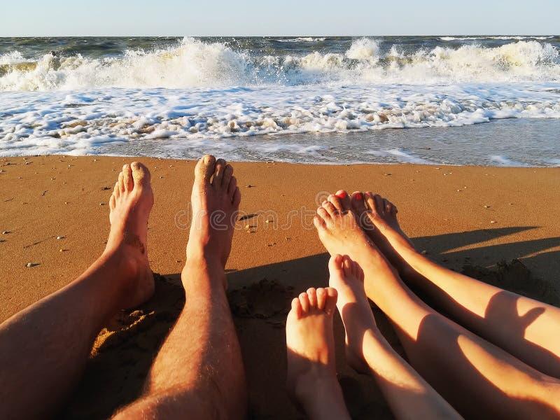Οικογενειακές διακοπές στη θάλασσα στοκ φωτογραφία