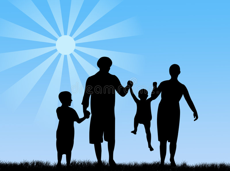 οικογενειακή άνοιξη ελεύθερη απεικόνιση δικαιώματος