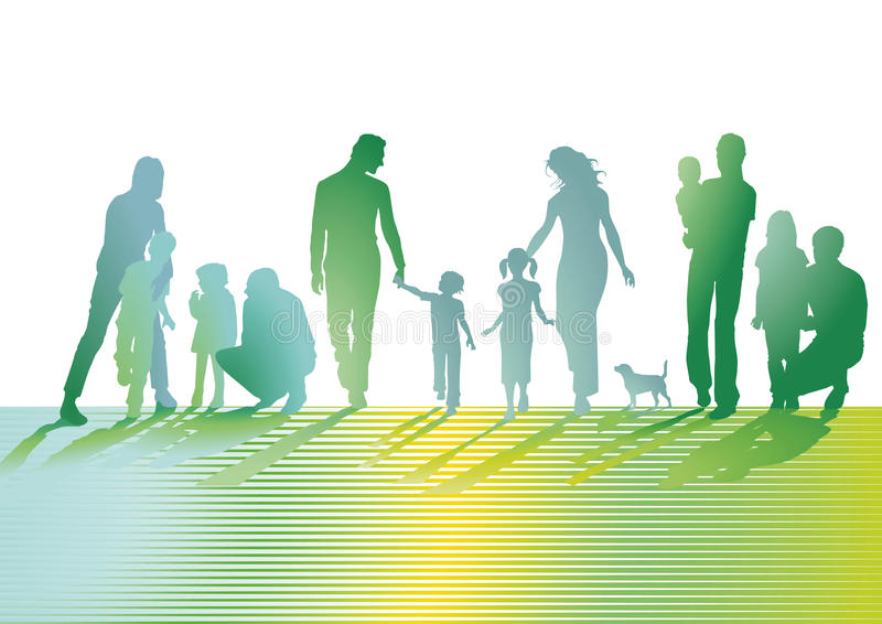 Οικογενειακή απεικόνιση   απεικόνιση αποθεμάτων