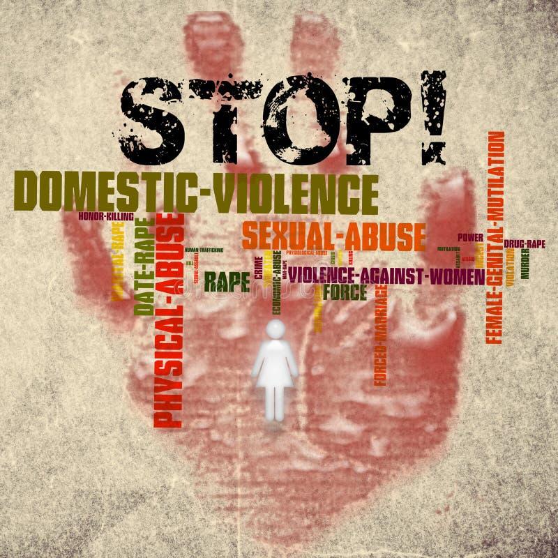Οικογενειακή βία στάσεων ενάντια στις γυναίκες στοκ εικόνα