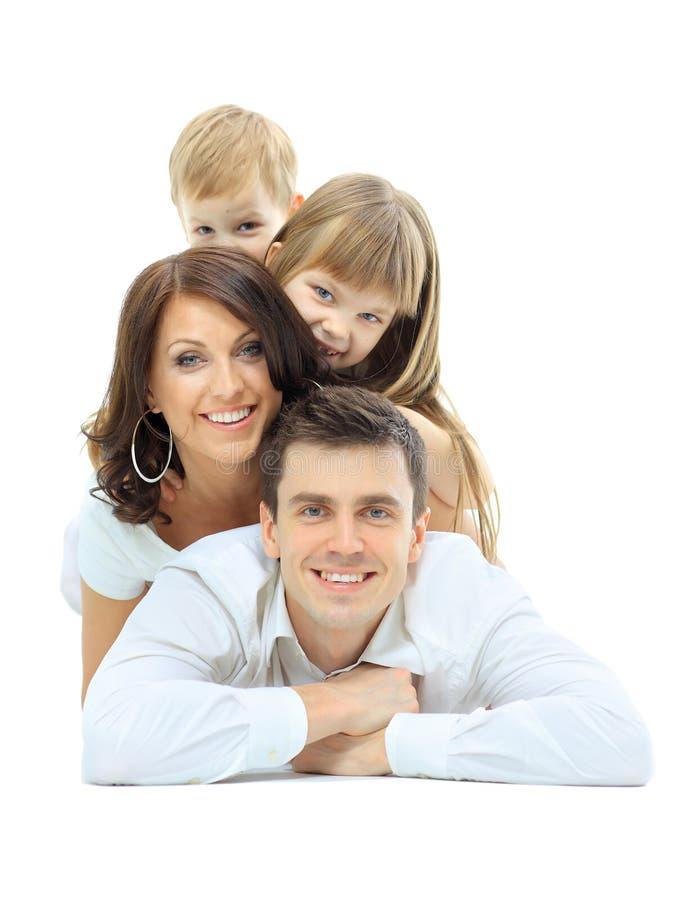 οικογενειακή ευτυχής φωτογραφία στοκ φωτογραφία με δικαίωμα ελεύθερης χρήσης