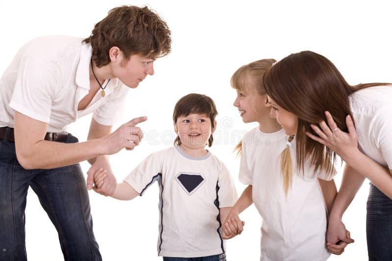οικογενειακή ευτυχής  στοκ φωτογραφία με δικαίωμα ελεύθερης χρήσης