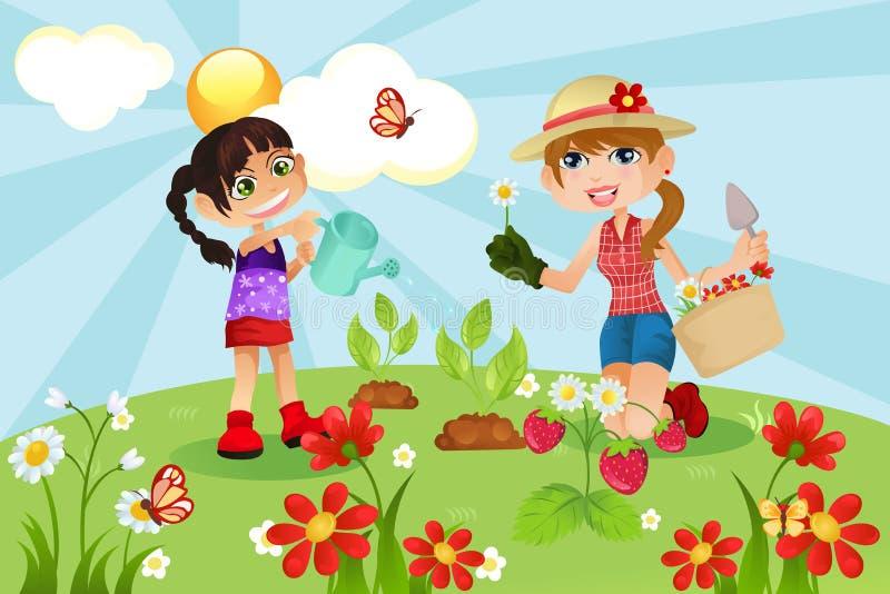 οικογενειακή κηπουρι&ka ελεύθερη απεικόνιση δικαιώματος