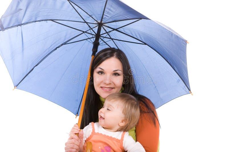οικογενειακή ομπρέλα στοκ εικόνα με δικαίωμα ελεύθερης χρήσης