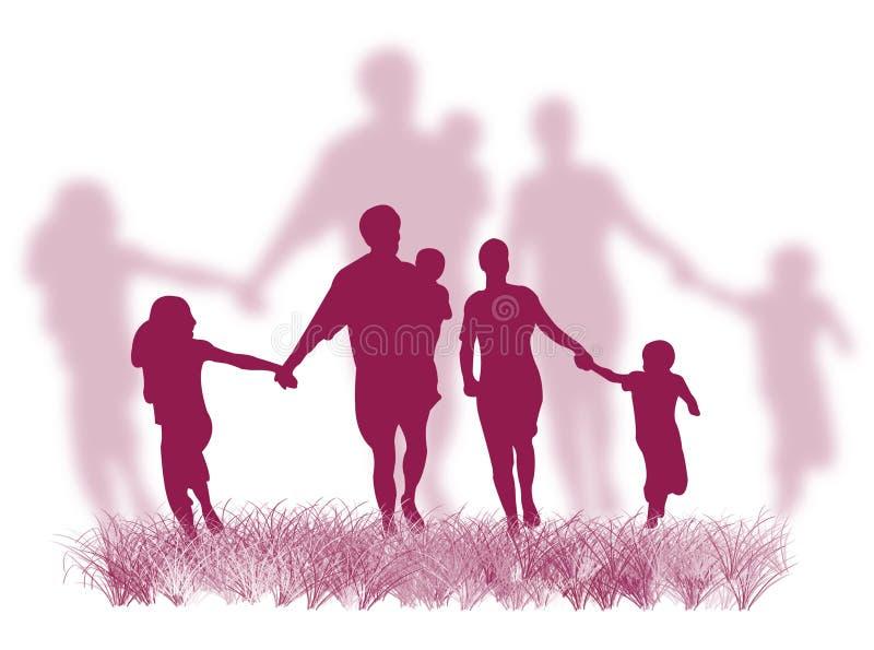 οικογενειακή χλόη διανυσματική απεικόνιση