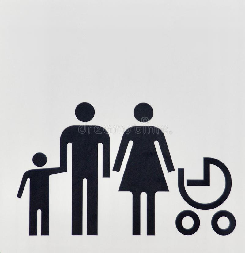 Οικογενειακοί παντρεμένοι μονάδα άνδρας και γυναίκα με τα παιδιά τους στοκ εικόνες με δικαίωμα ελεύθερης χρήσης