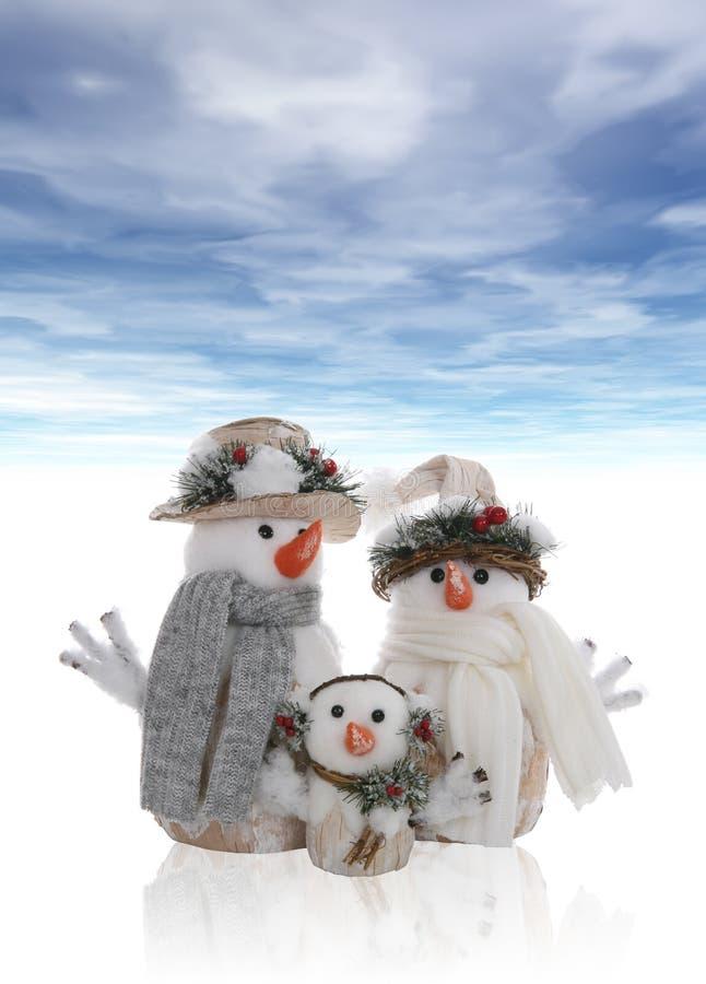 οικογενειακός χιονάνθ&rho στοκ εικόνες με δικαίωμα ελεύθερης χρήσης