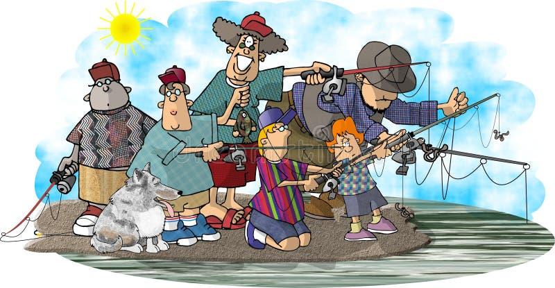 οικογενειακός ψαράς ελεύθερη απεικόνιση δικαιώματος