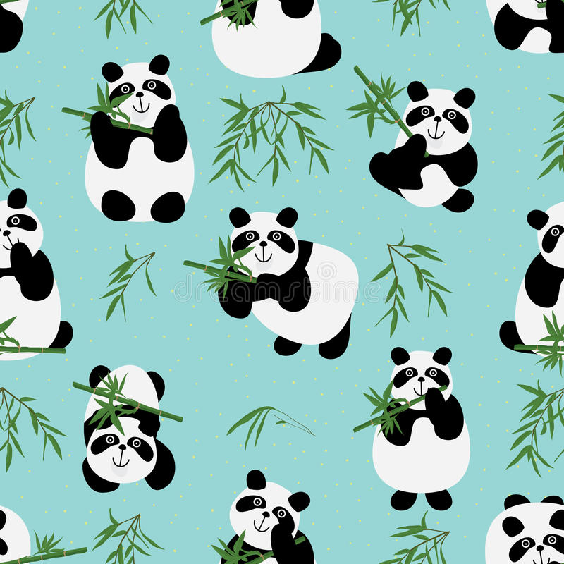 Οικογενειακό άνευ ραφής σχέδιο της Panda απεικόνιση αποθεμάτων