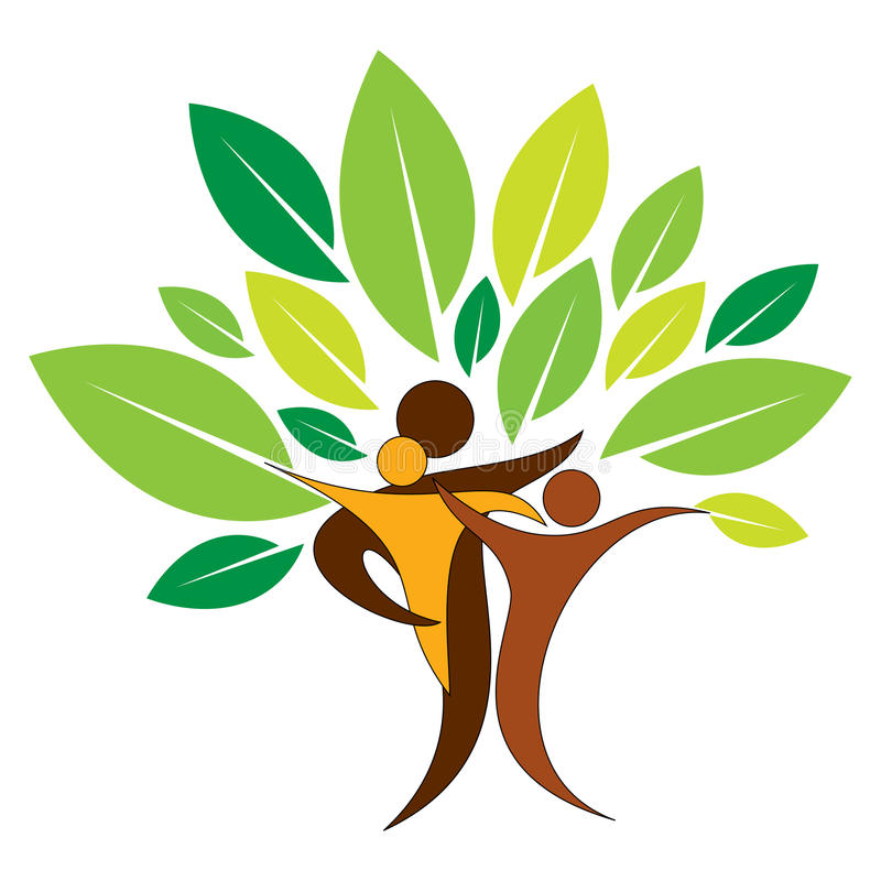 Οικογενειακό δέντρο ελεύθερη απεικόνιση δικαιώματος