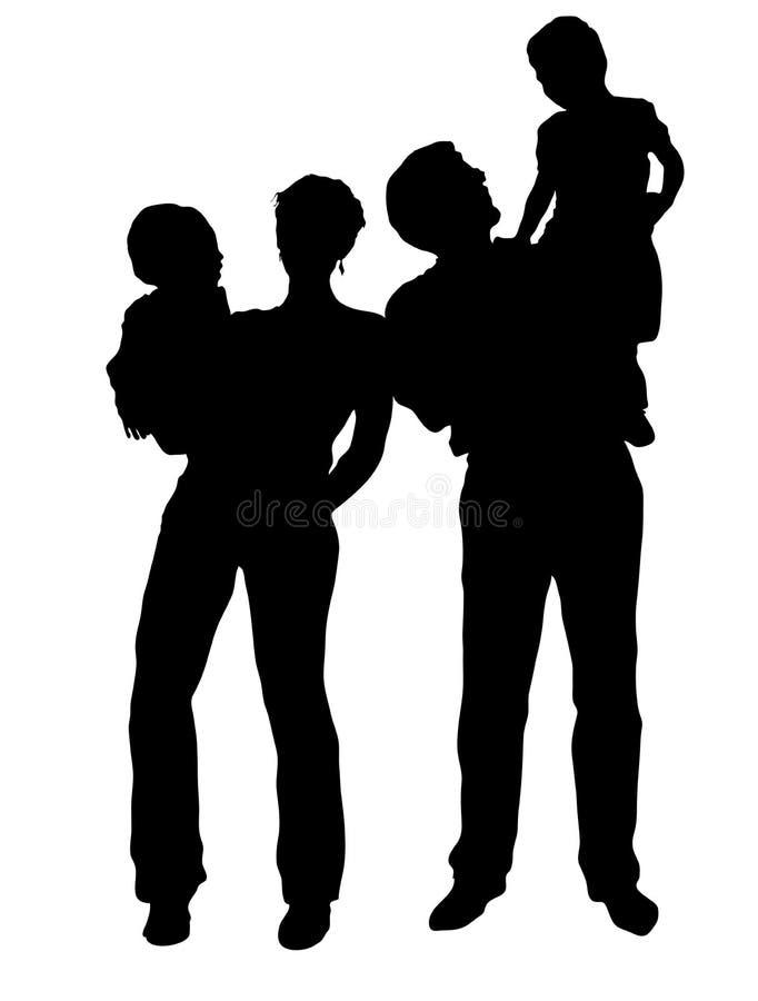 οικογενειακό διάνυσμα ελεύθερη απεικόνιση δικαιώματος