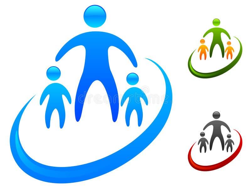 οικογενειακό εικονίδ&iota ελεύθερη απεικόνιση δικαιώματος
