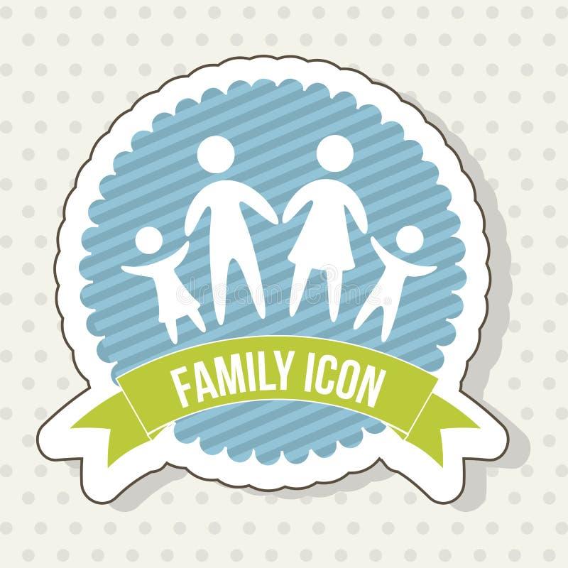 Οικογενειακό εικονίδιο ελεύθερη απεικόνιση δικαιώματος