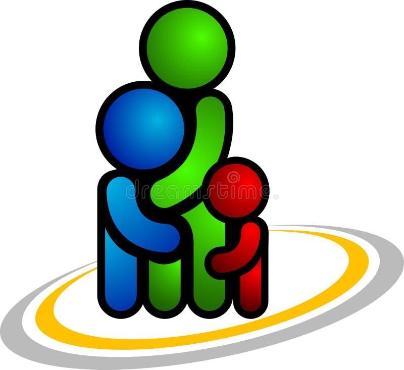 οικογενειακό λογότυπ&omic διανυσματική απεικόνιση
