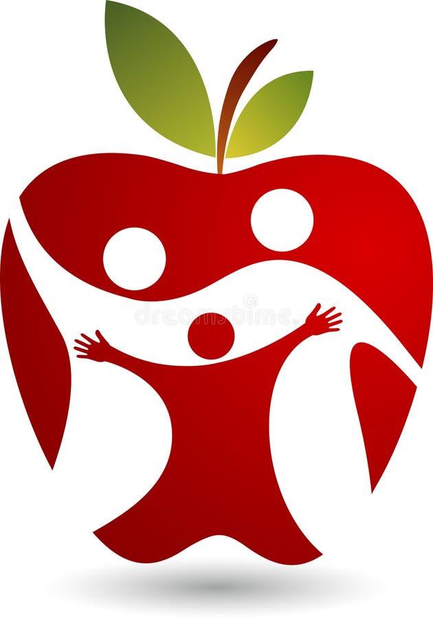 οικογενειακό λογότυπο υγείας διανυσματική απεικόνιση