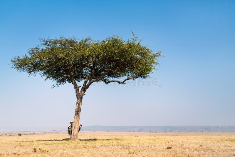 Οικογενειακό σαφάρι στην Αφρική στοκ φωτογραφίες