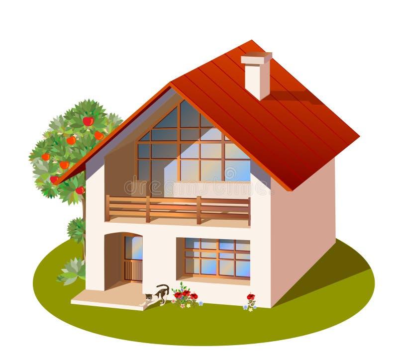 οικογενειακό σπίτι απεικόνιση αποθεμάτων