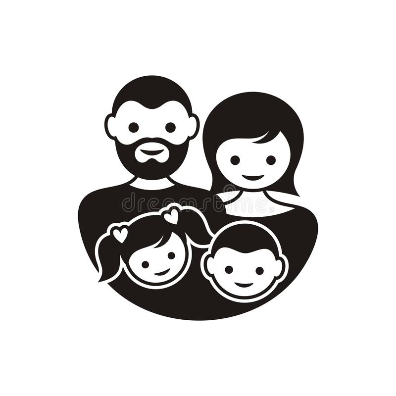 Οικογενειακό σύμβολο διανυσματική απεικόνιση