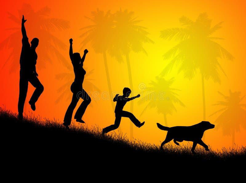 οικογενειακό τοπίο ελεύθερη απεικόνιση δικαιώματος